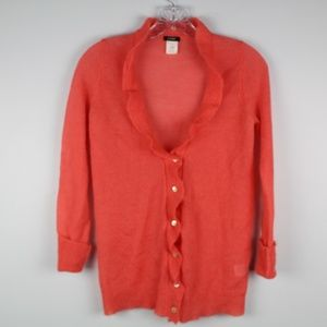 J. Crew Wool Blend Button Front Cardigan